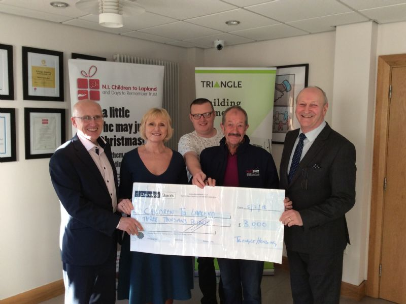 Triangle donate £3000 to local charity