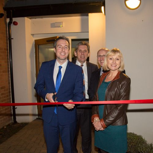 Paul Givan, MLA, opens housing scheme in Belfast