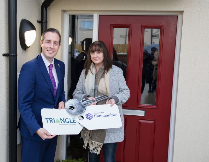 Minister Givan opens new homes in Coleraine